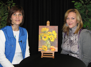"Pat Fiorello & ""The Art Corner "" host Sonja Vass"